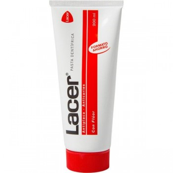 LACER PASTA DENTAL ANTIPLICA Y ANTICARIES CON FLÚOR 200 ML