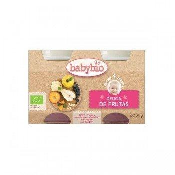 BABYBIO POTITO DELICIA DE FRUTAS BIO 2 X 130 GR