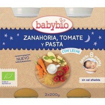 BABYBIO POTITO ZANAHORIA TOMATE Y PASTA  2X200GR