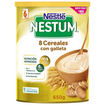 NESTLE NESTUM PAPILLA 8 CEREALES CON GALLETA 650