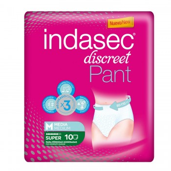 INDASEC PANT SUPER T/MEDIA 10 UNIDADES