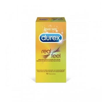 DUREX REAL FEEL PRESERVATIVO SIN LATEX 12 U